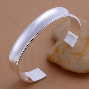 Jewelry - NEW 925 Satin Silver Plated Bracelet Cuff Bangle